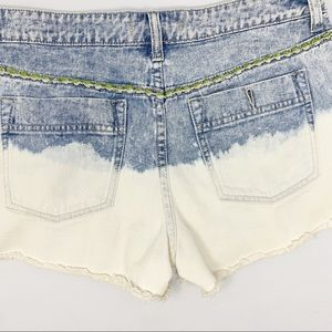 Free People cut off distressed jean shorts